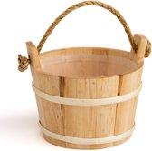 Sauna emmer (met koord) - elzen hout, 4 liter - inclusief kunststof binnenemmer (Pinetta Finland)