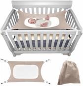 Babyhangmat Box - Baby Park - Baby Nestje - Kraamcadeau - Wieg hangmat -  Verstelbare Metalen Riem Gespen - Beige
