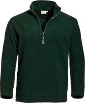 Santino fleece sweater Serfaus - Zwart - maat XXL