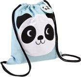 Rex London - Panda - Gymtas / Turntas / Zwemtas / Rugzakje - Handig rijgkoord - 100% katoen - 12 liter