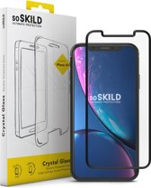 SoSkild Crystal Double Tempered Glass Screenprotector Zwart voor iPhone Xr