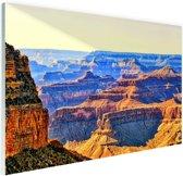 Uitizicht over Grand Canyon Glas 30x20 cm - Foto print op Glas (Plexiglas wanddecoratie)