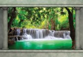 Fotobehang Waterfall Forest   L - 152.5cm x 104cm   130g/m2 Vlies
