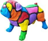 Vrolijke Beelden Engelse Bulldog - 40 cm - Multicolor