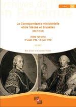 La Correspondance ministérielle entre Vienne et Bruxelles (1749-1789), Index raisonné