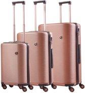 CarryOn BlingBling TSA Kofferset - 3 delige trolleyset - volledig gevoerd - Rose Gold