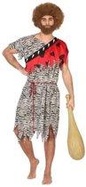 Holbewoner verkleed kostuum met dierenprint voor heren - carnavalskleding - voordelig geprijsd XL
