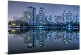 De skyline van Wuhan Aluminium 90x60 cm - Foto print op Aluminium (metaal wanddecoratie)