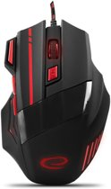 Optische USB Game Muis 7D Wolf met LED - max DPI 2400 - Rood