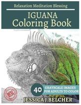 Iguana Coloring Book for Adults Relaxation Meditation Blessing