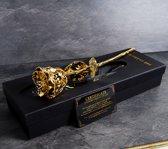 MikaMax 24 kt Gouden Roos Golden Rose ± 28-30cm la