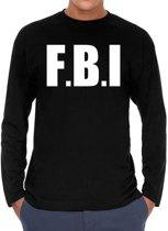 F.B.I. Long sleeve t-shirt zwart heren - zwart F.B.I. shirt met lange mouwen L