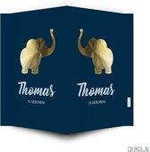 Geboortebord gouden olifantje | raambord geboorte | raamdecoratie geboorte | grijnss.nl