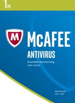 McAfee AntiVirus - Nederlands - 1 Apparaat - Windows