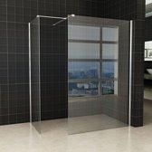 Inloopdouche Set Miami 120x200cm 80x200cm Antikalk Helder Glas Chroom Profiel 10mm Veiligheidsglas Easy Clean