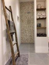 Houten decoratie ladder | Rustiek bruin | 175 x 5 x 50 cm