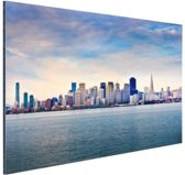 FotoCadeau.nl - San Francisco skyline Aluminium 90x60 cm - Foto print op Aluminium (metaal wanddecoratie)