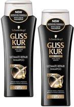 Gliss Kur Ultimate Repair - Shampoo - 2 stuks van 250 ml