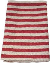 Sauna zitdoek - strepen, rood, 40x50 cm (Emendo, Finland)