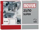 10x Novus nietjes 23/10, doos met 1000 nietjes