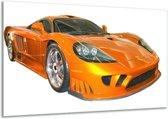 Glasschilderij Auto | Geel, Oranje, Wit | 120x70cm 1Luik | Foto print op Glas |  F000785