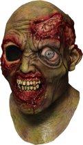 Geanimeerd zombie masker voor volwassenen - Verkleedmasker