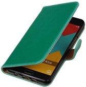 Mobieletelefoonhoesje.nl - Samsung Galaxy A5 (2016) Hoesje Zakelijke Bookstyle Groen
