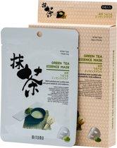 Mitomo Groene Thee Gezichtsmasker - Parabenenvrij - Biologisch -  Waardevolle Voedingstoffen Voor Een Liftend Effect