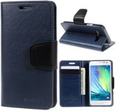 Goospery Sonata Leather case hoesje Samsung Galaxy E5 blauw
