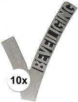 10x Beveiligings embleem - 6,5 - beveiliger pin