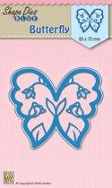 Vorm Mal blauw   Vlinder