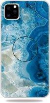 Mobigear Gripper Marble Soft TPU Blauw Apple iPhone 11