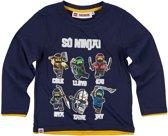 Lego-Ninjago-T-shirt-met-lange-mouw-marineblauw - Maat 104