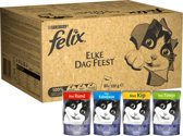 FELIX Elke Dag Feest - Kattenvoer - 80 x 100 g