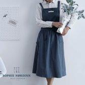 Sophie Nordinn® - Schort Uppsala - Kleur (Donkerblauw) - Scandinavian Schort - Nordic Apron