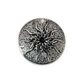 Quiges - Dames Click Button Drukknoop 18mm Zon - EBCM056