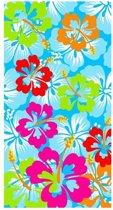 Flower - Strandlaken - 100x180 cm - Blauw