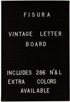 Fisura letterbord zwart + 286 witte letters