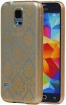 Samsung Galaxy S5 mini Hoesje TPU Paleis 3D Backcover Goud