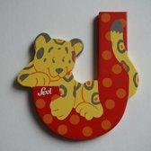 Sevi - Houten Dieren Letter J - rood