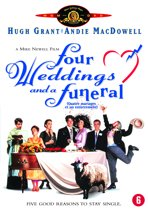 DVD cover van Four Weddings And A Funeral