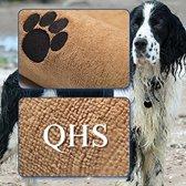 Groene Beer Honden - Handdoek - Huisdier - Microfiber - Vocht opnemend - Mosterdkleur - Droogdoek voor honden-  140 cm x 70 cm