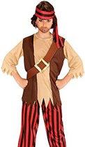 Piratenpak - shirt met vest, riem, broek, hoofdband - 2-3 jaar - 104 cm