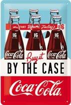 Wandbord - Coca Cola By the case - 20x30cm