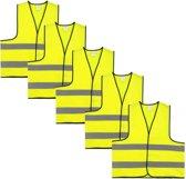 Veiligheidshesje - Veiligheidsvest - Kind - Geel - 5 stuks