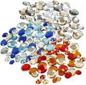 Plak diamantjes/steentjes mix set 1080 stuks