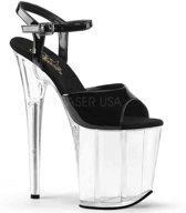 EU 38 = US 8   FLAMINGO-809   8 Heel, 4 PF Ankle Strap Sandal