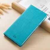 Hoesje voor Samsung Galaxy Note 8, canvas bookcase, blauw