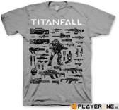 TITAN FALL - T-Shirt CHOOSE YOUR WEAPON (S)