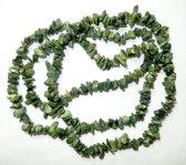Groen Opaal Spltcollier 90 cm.